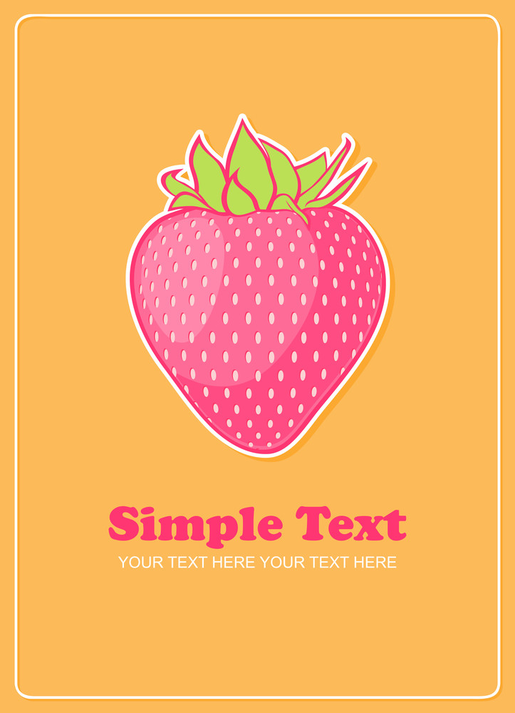 Strawberries Greeting Card. Vector Illustration