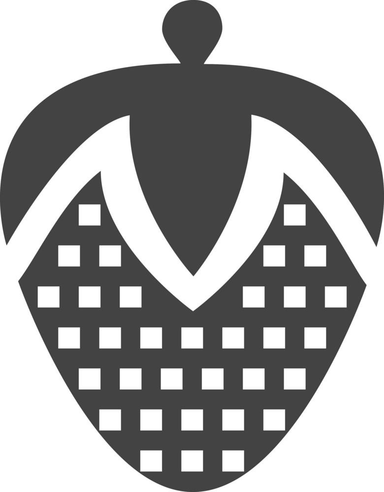 Strawberry Glyph Icon