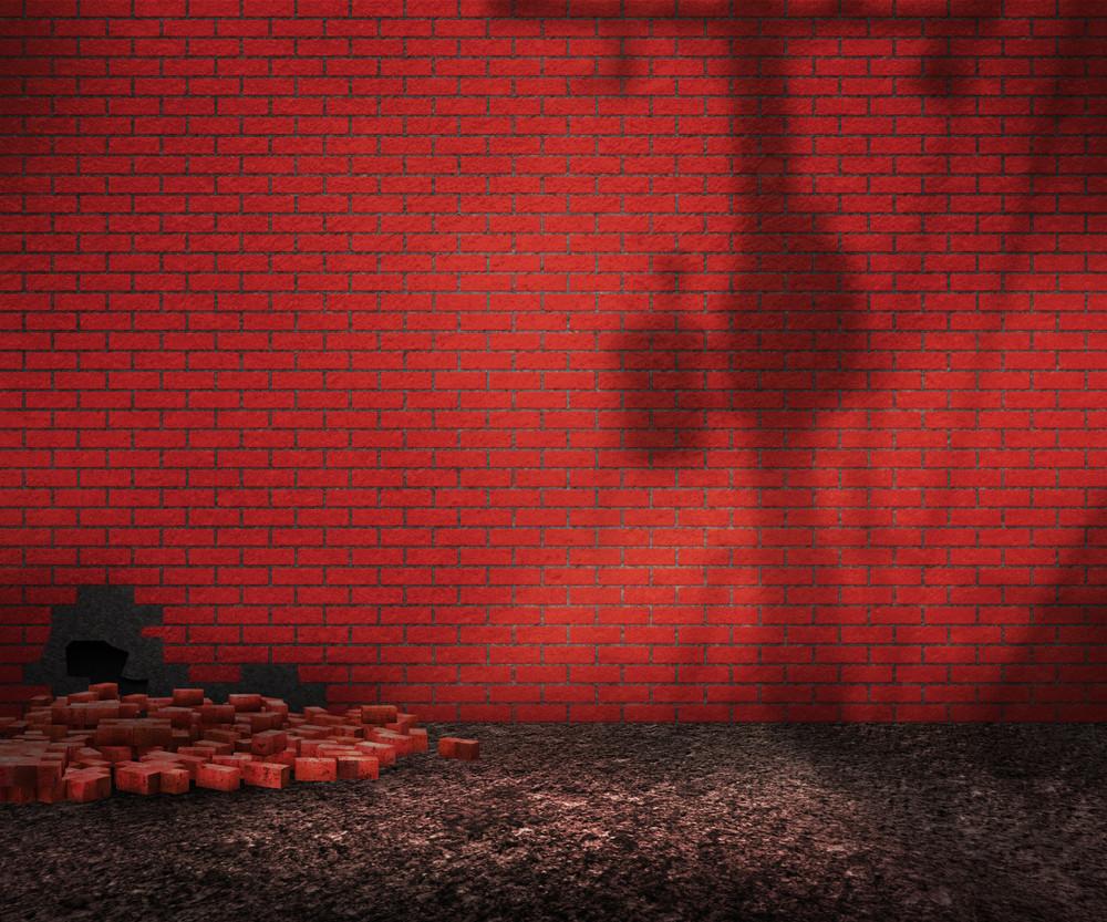 Street Red Brick Backyard Background