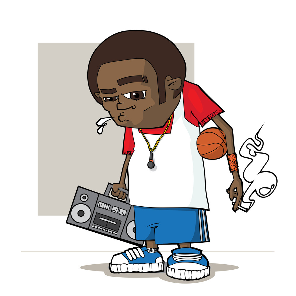 Streetball  Character. Vector Illustration