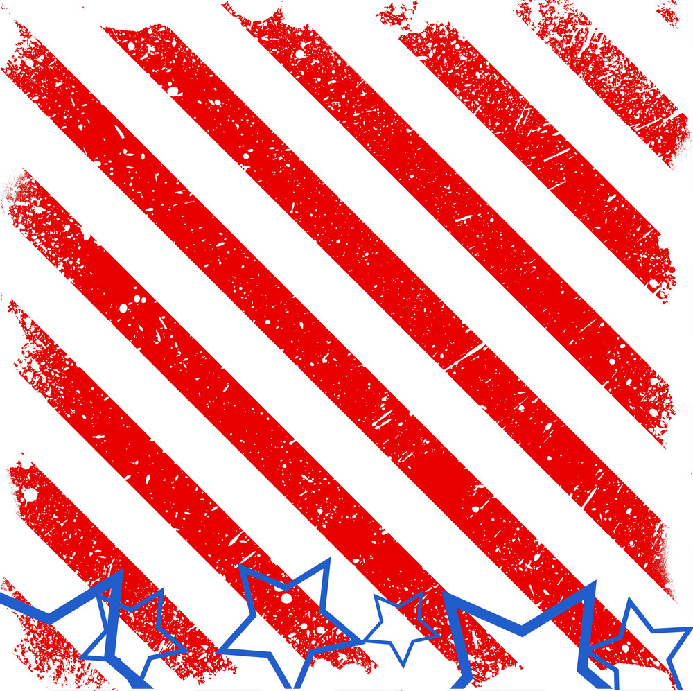 Strip Background 4th Of July Vector Theme Design