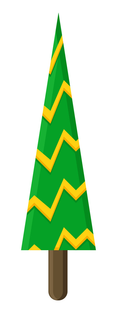 Striped Christmas Tree Vector