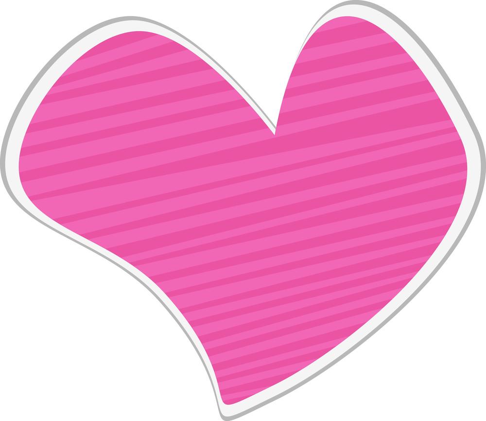 Striped Heart Sticker