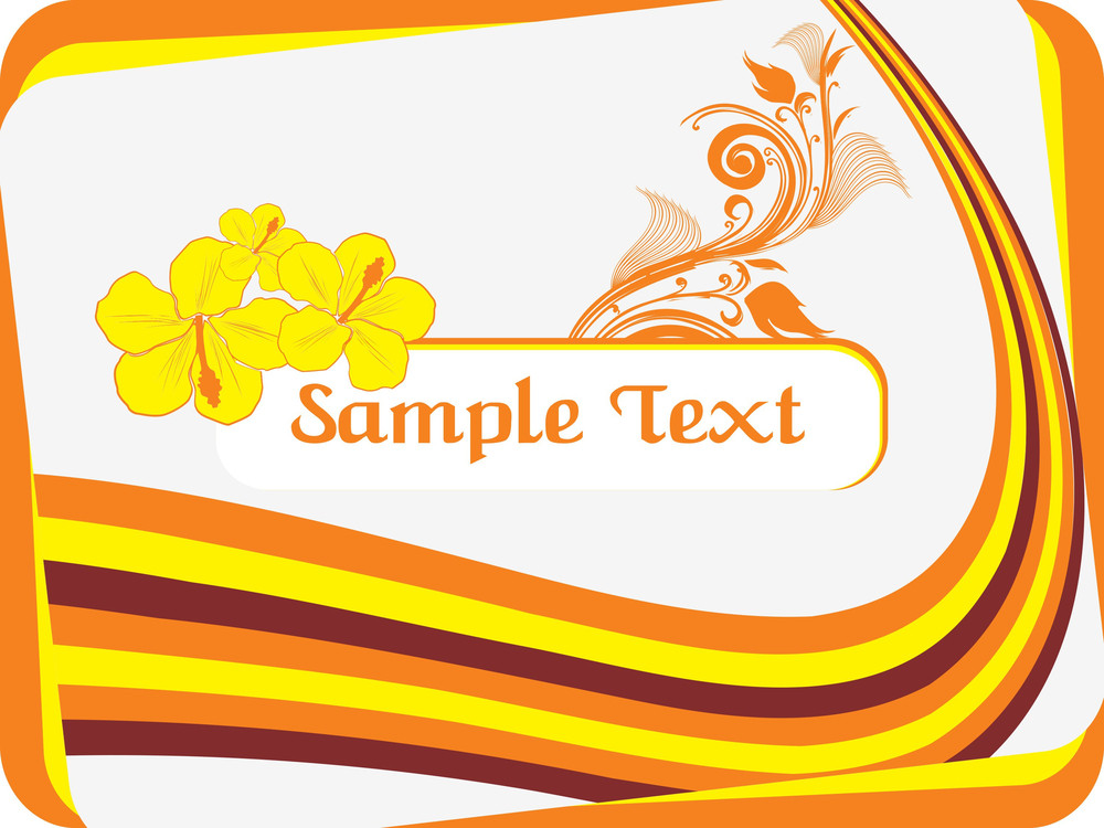 Stripes Background With Flower Pattern