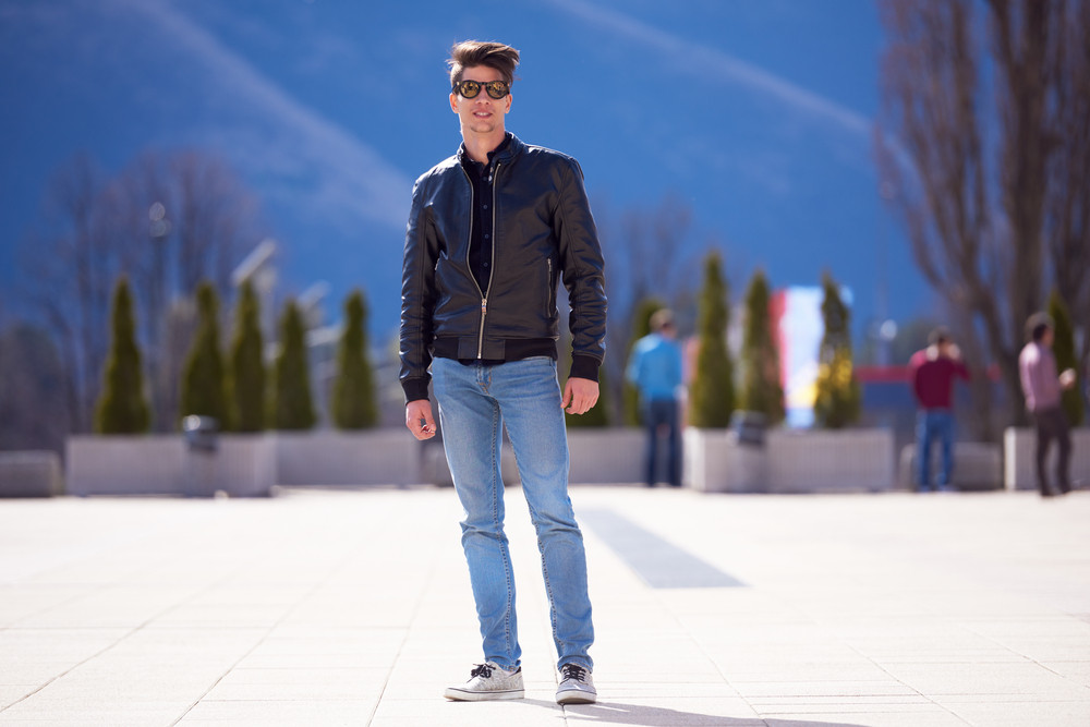 Student on campus
