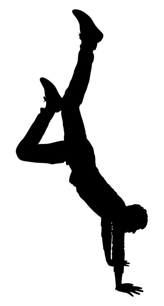 Stunt Boy Silhouette