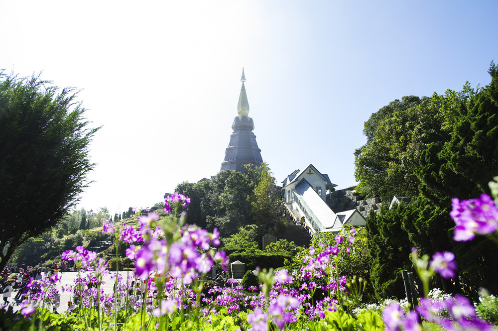 Stupa on Doi Inthanon. Chiang Mai, Thailand