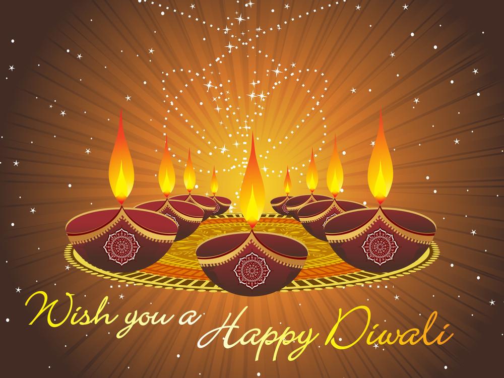 Stylish Background For Diwali Celebration