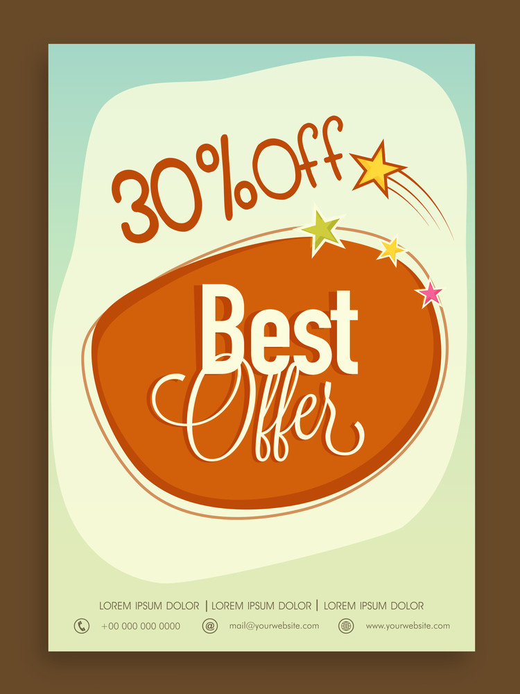 stylish best offer sale poster banner or flyer design with discount
