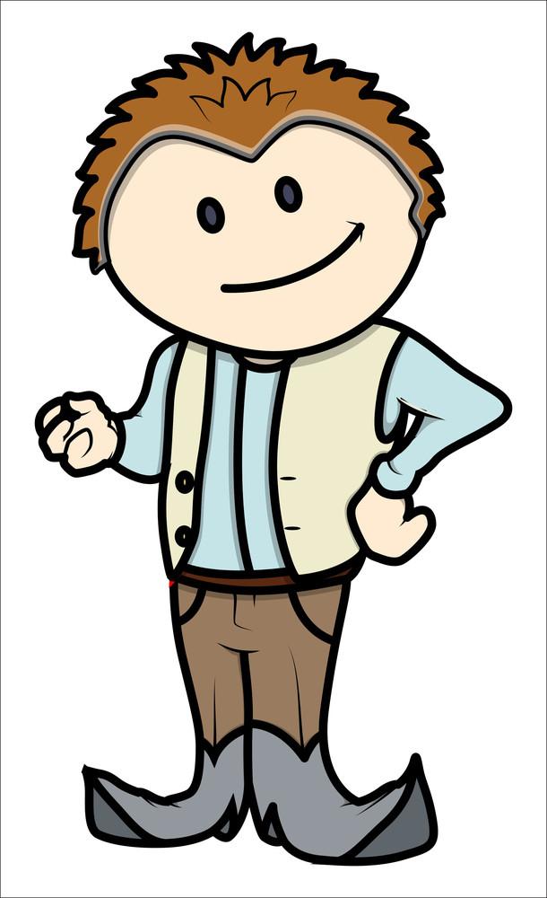 Stylish Boy - Vector Cartoon Illustration