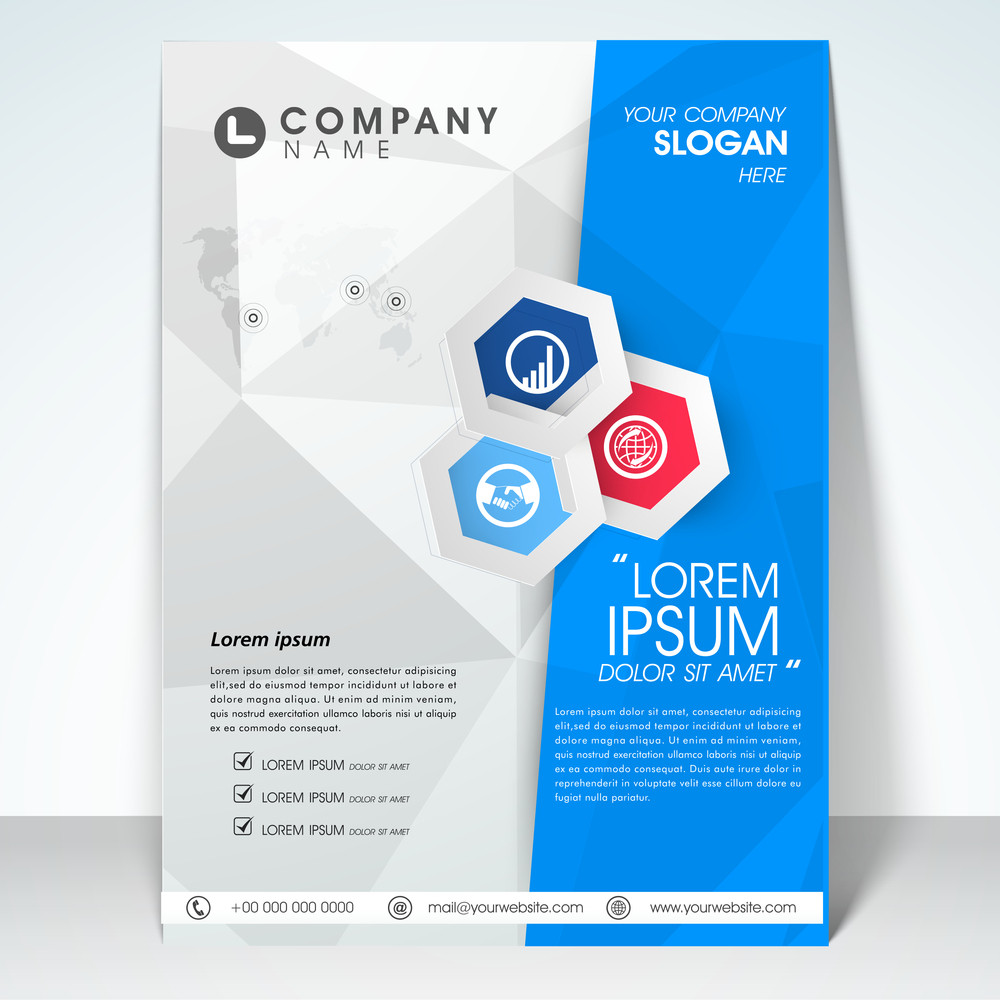Stylish business infographic flyer banner or template design for your company.