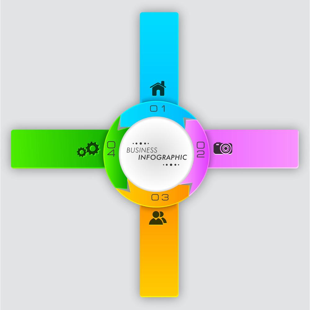 Stylish business infographic layout with 2.0 web icons on grey background.