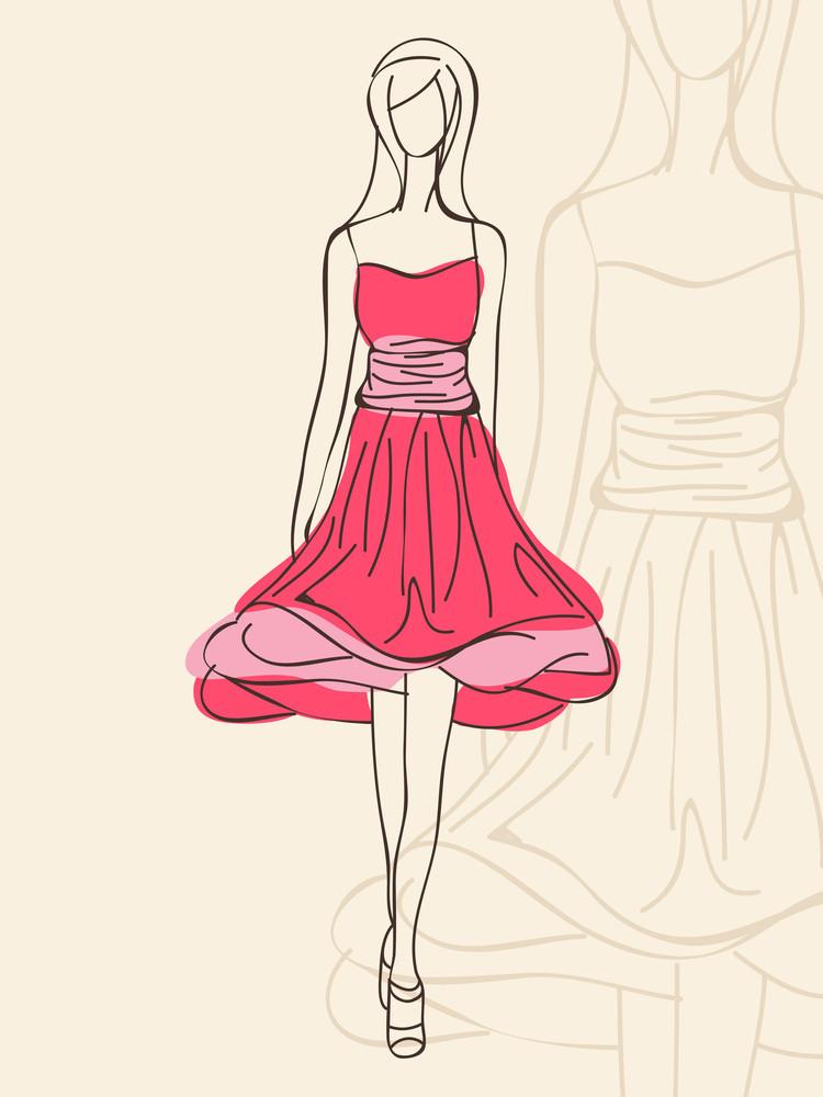 Stylish Fashion Background  With Beautiful Models.