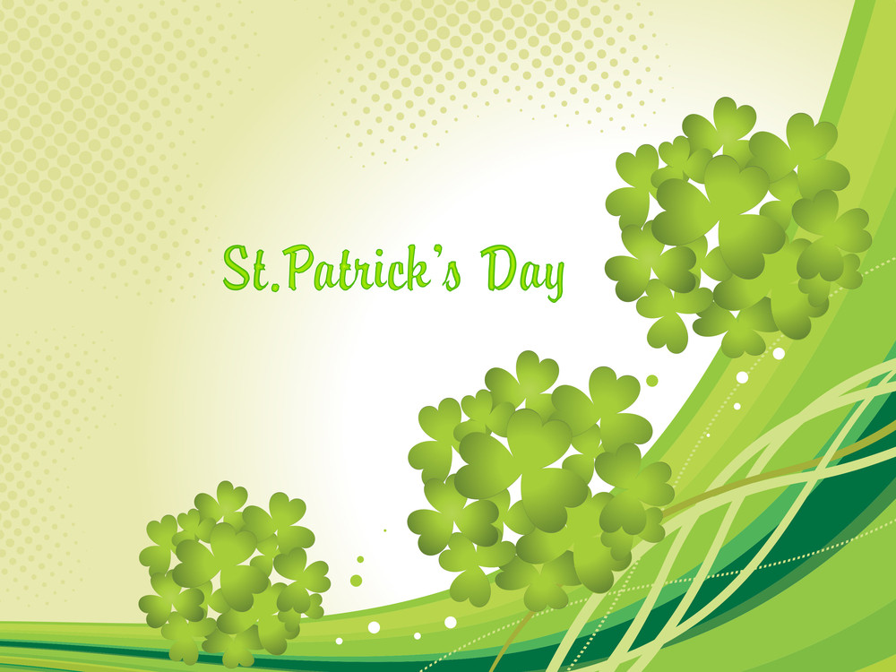 Stylish Illustration For Patrick Day
