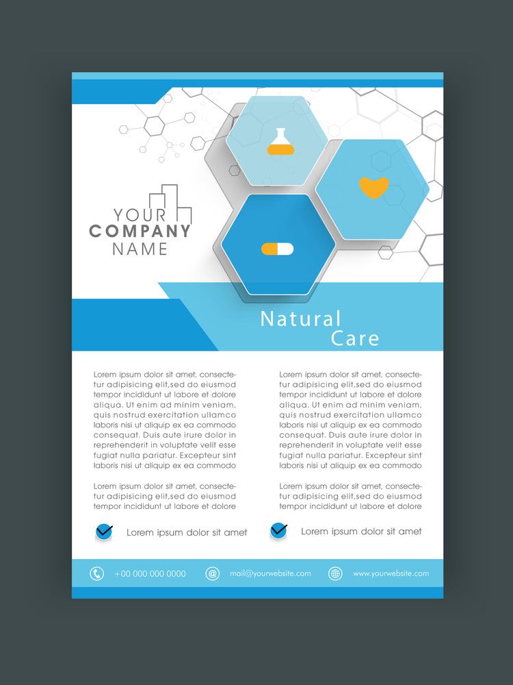 Stylish Natural Care flyer banner or template design.