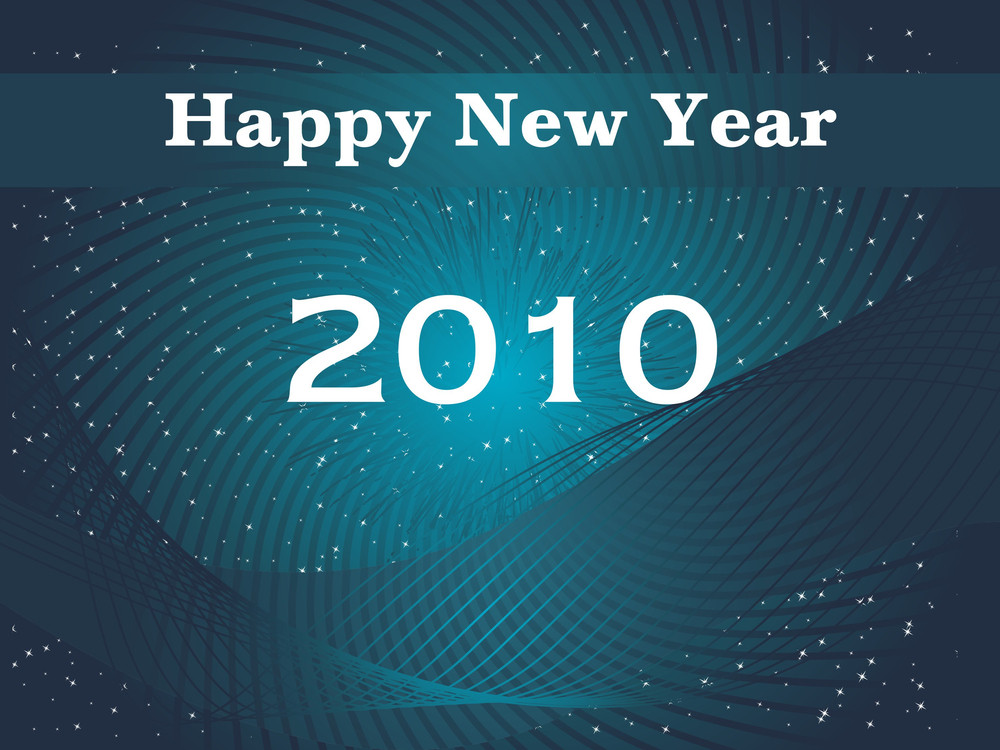Stylish Pattern Background For New Year