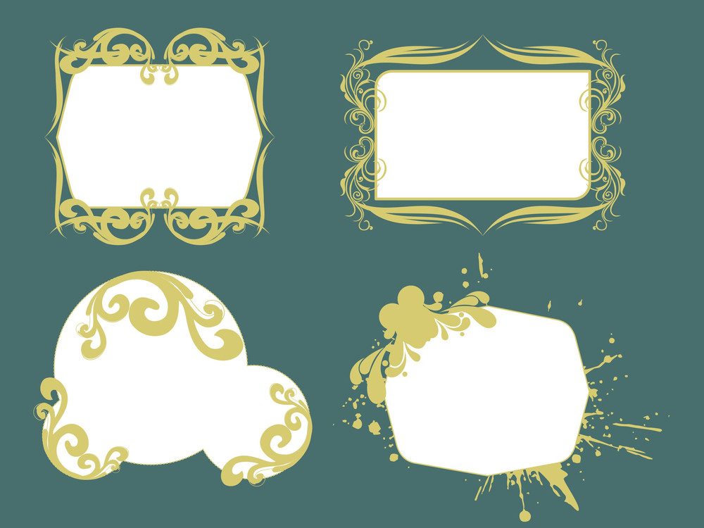 Stylish Pattern Frame Illustration