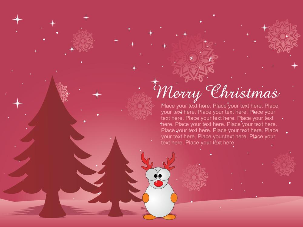 Stylish Pattern Merry Xmas Background
