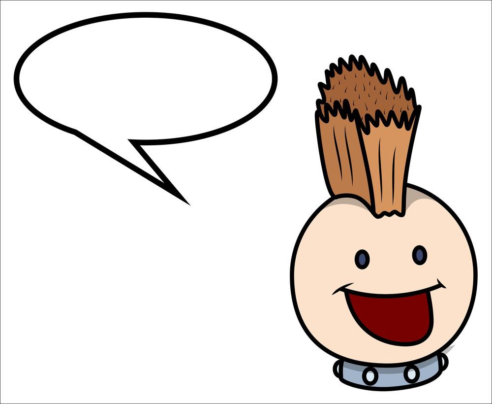 Stylish Pop Costume Boy Saying - Vector Cartoon Illustration