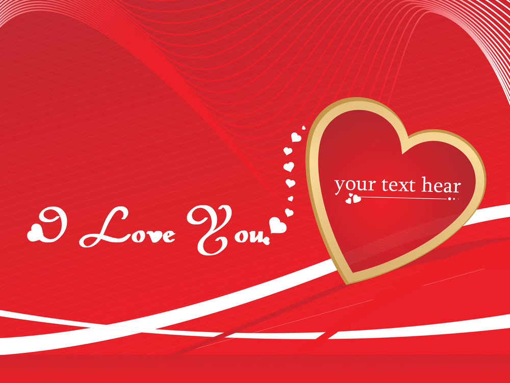 Stylish Romantic Background In Red