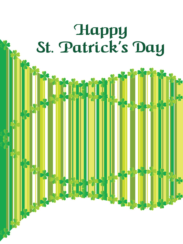 Stylish St. Patrick's Day Card