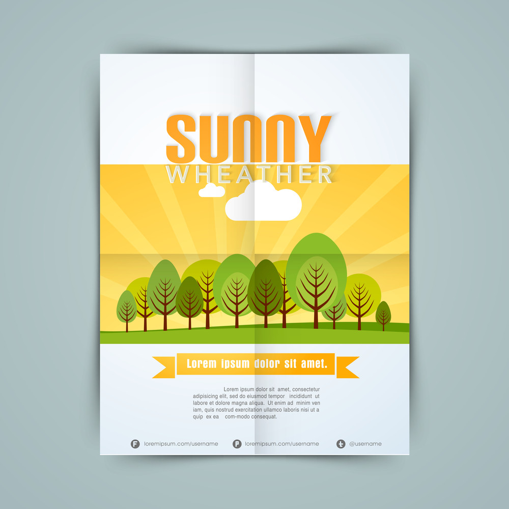 Stylish template banner or flyer design for vacations.