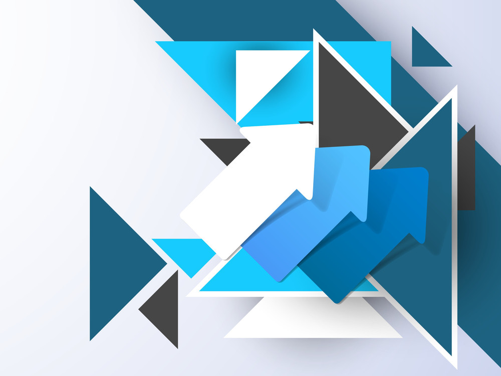 Stylize Abstract Background With Arrows
