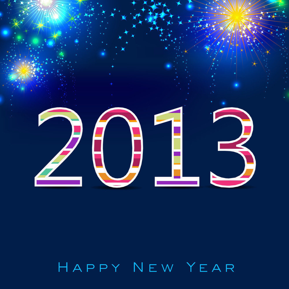 Stylized 2013 Happy New Year Background
