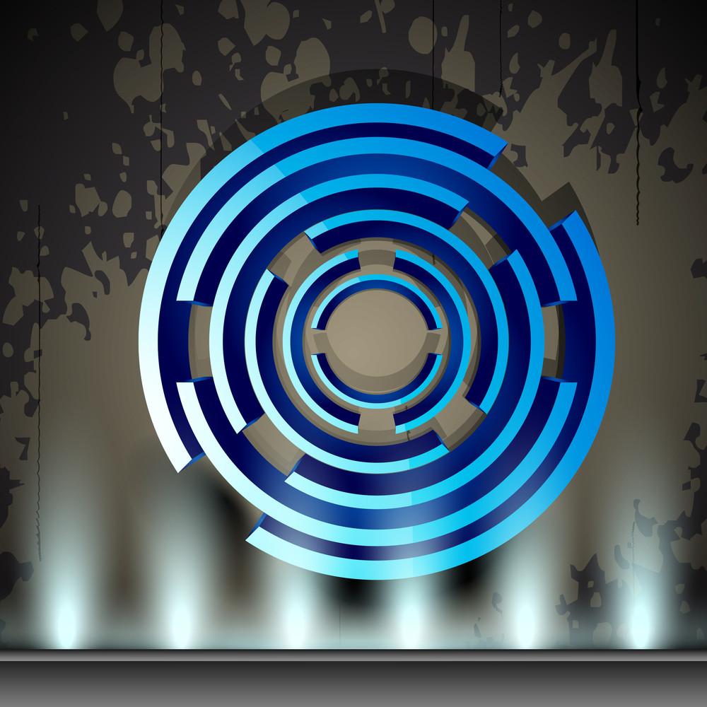 Stylized Blue Circle