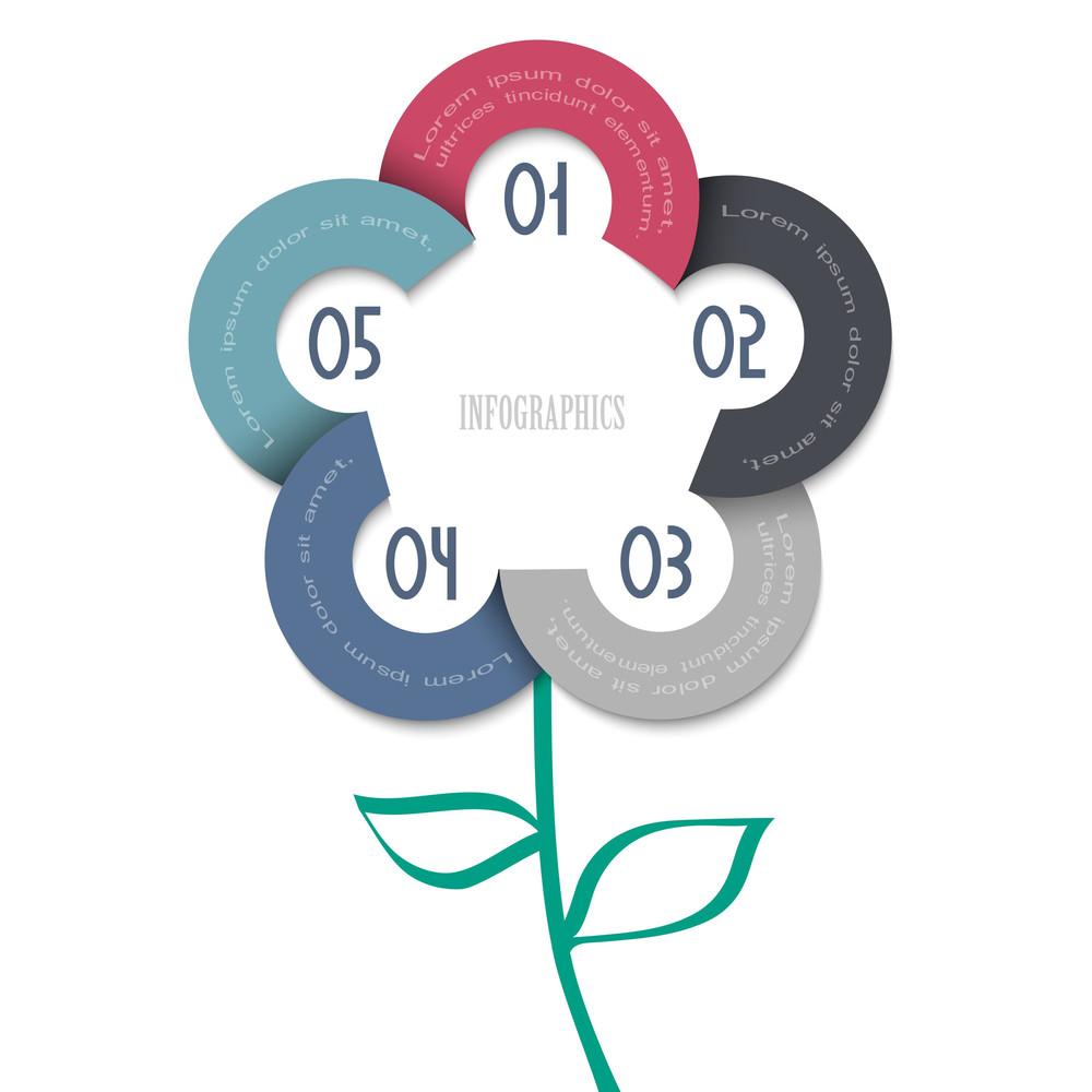 Stylized Flower - Trendy Design For Infographics