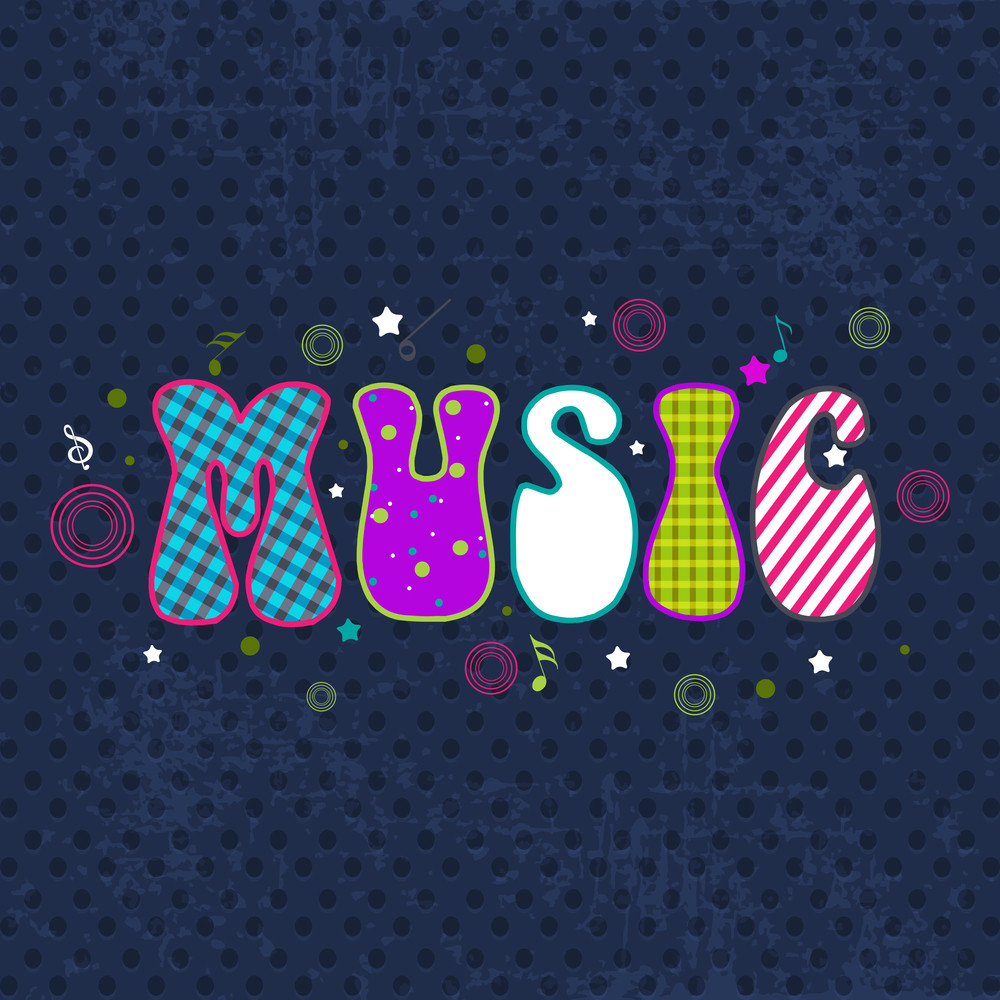 Stylized Retro Musical Background.