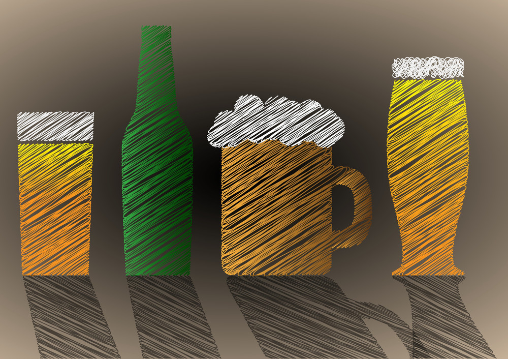 Stylized Scribble Beer