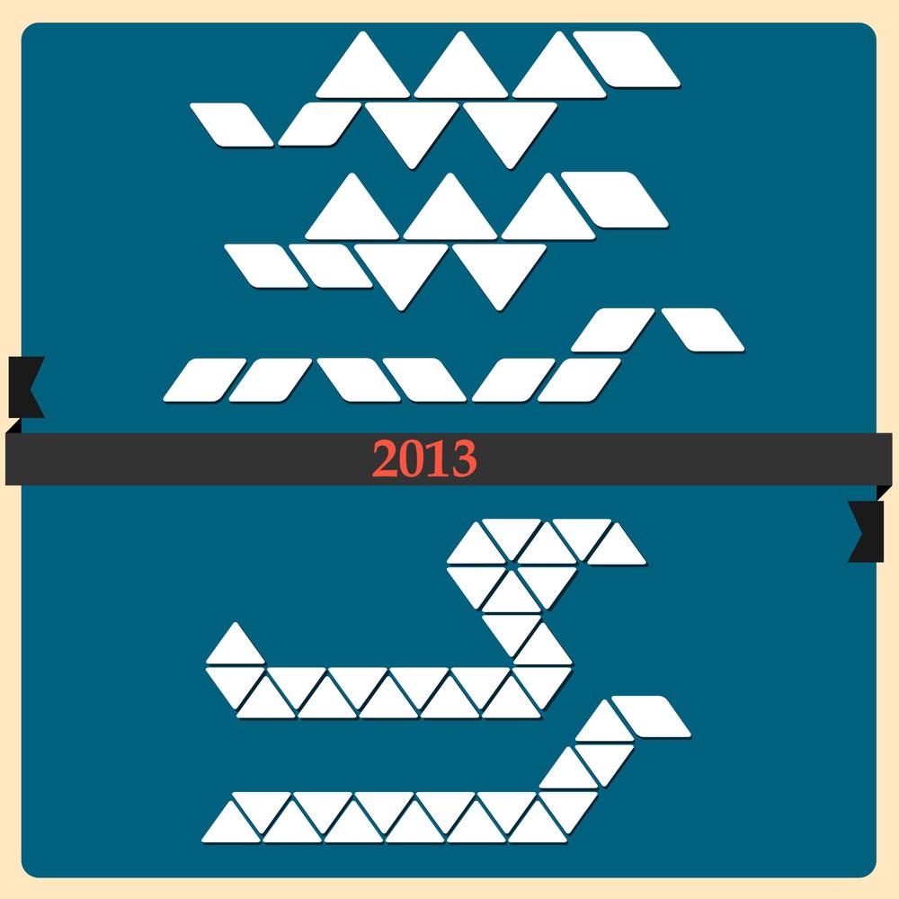 Stylized Snake - Symbol 2013 New Year