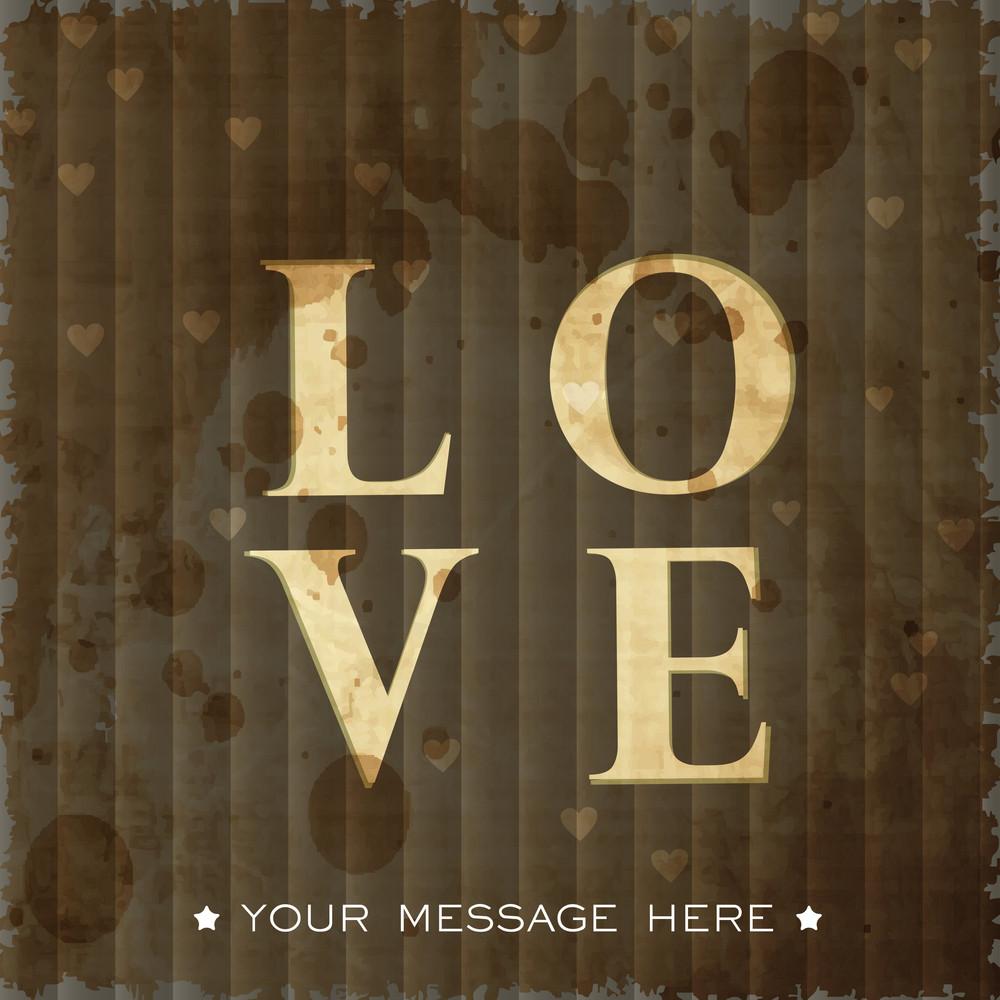 Stylized Text Love.