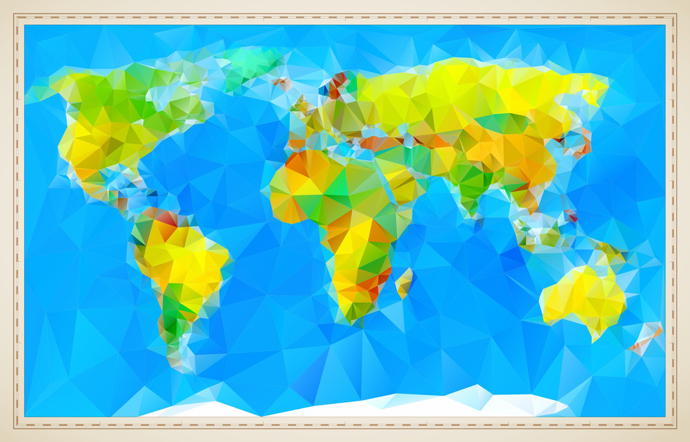 Stylized vector world map royalty free stock image storyblocks stylized vector world map gumiabroncs Images