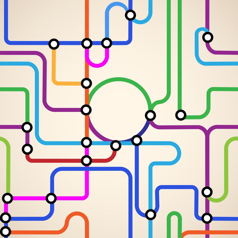 Subway Map Seamless