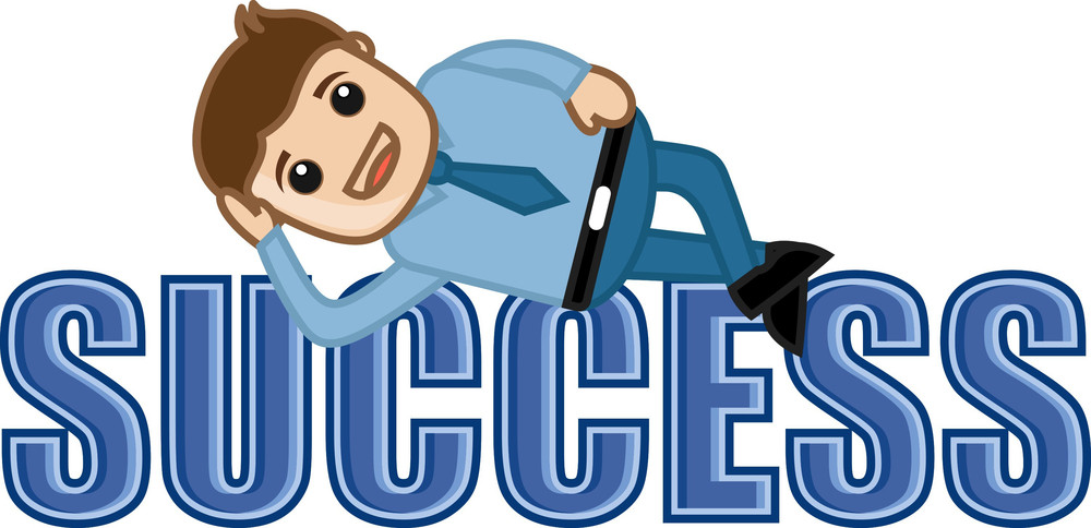 Success - Leisure Life - Business Cartoons Vectors