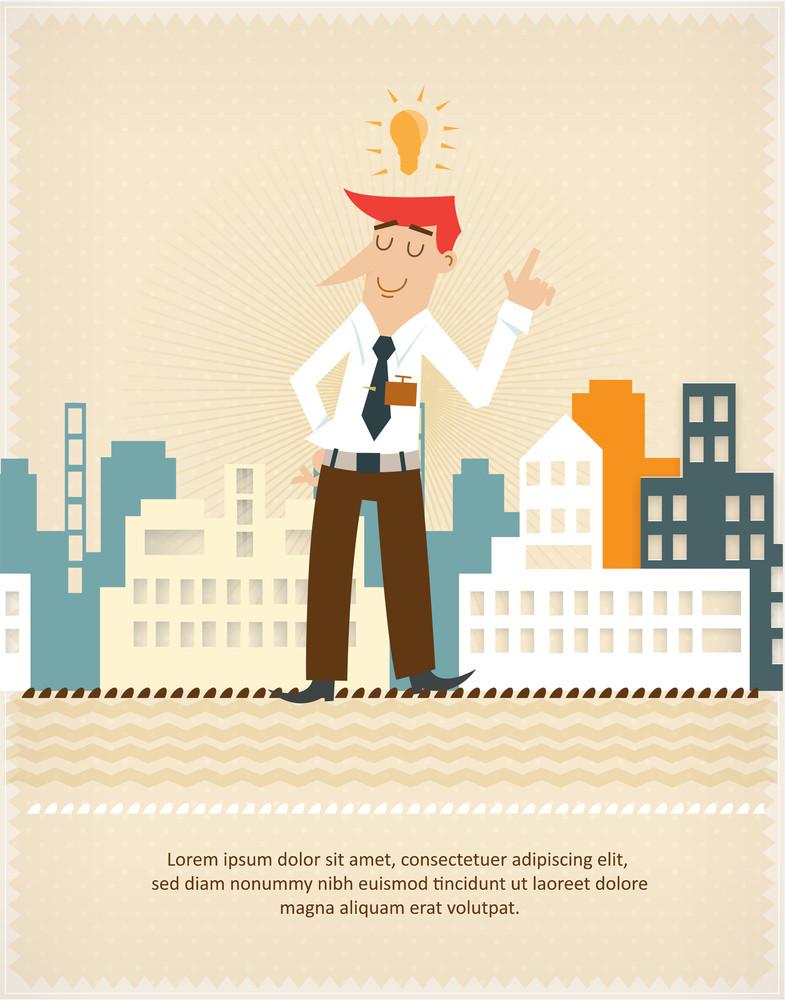 Successful Businessman (editable Text)
