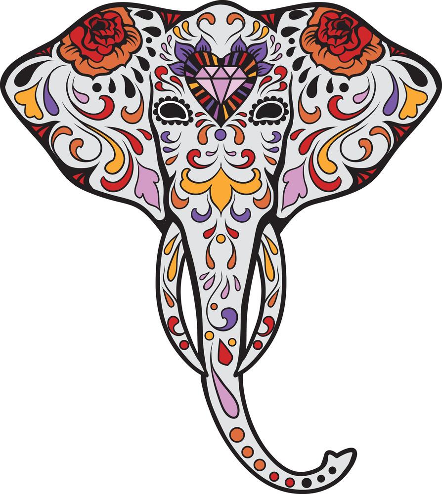 Sugar skull elephants