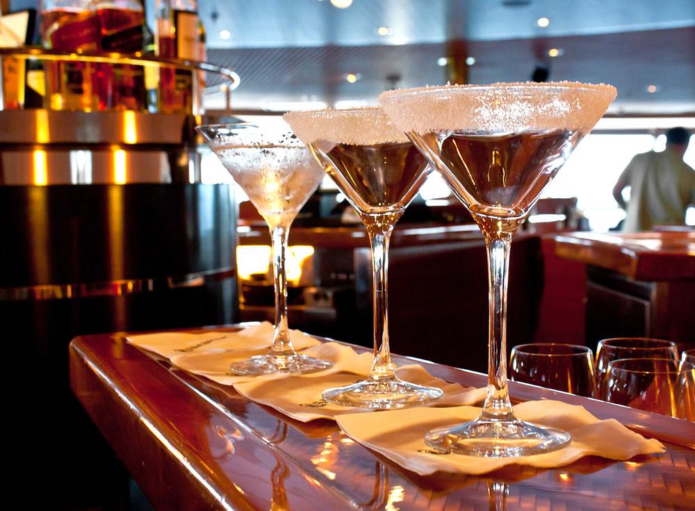 Sugared Drink Glass At Bar