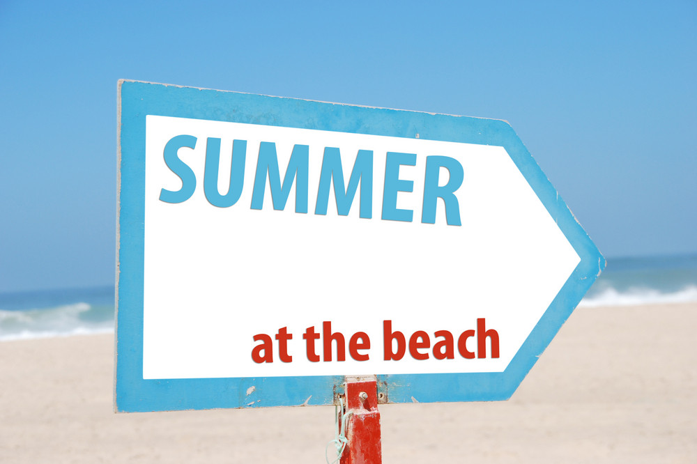 Summer At The Beach Sign