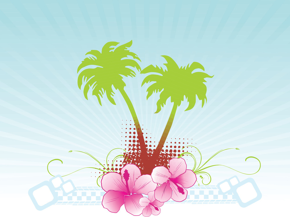 Summer Background Vector Banner