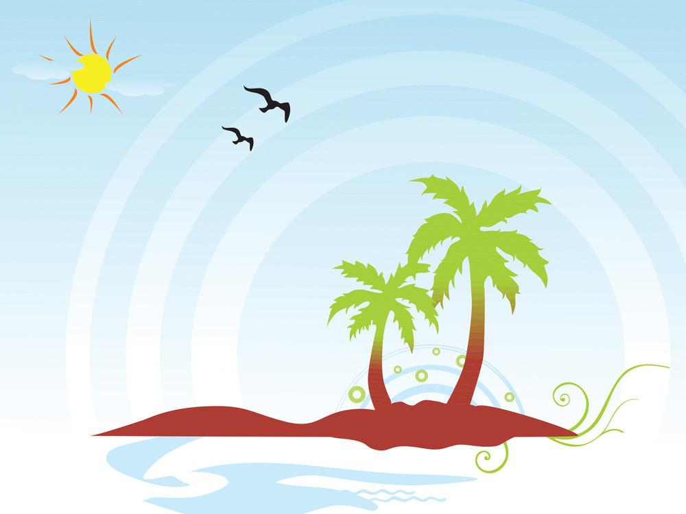 Summer Background Vector Concept