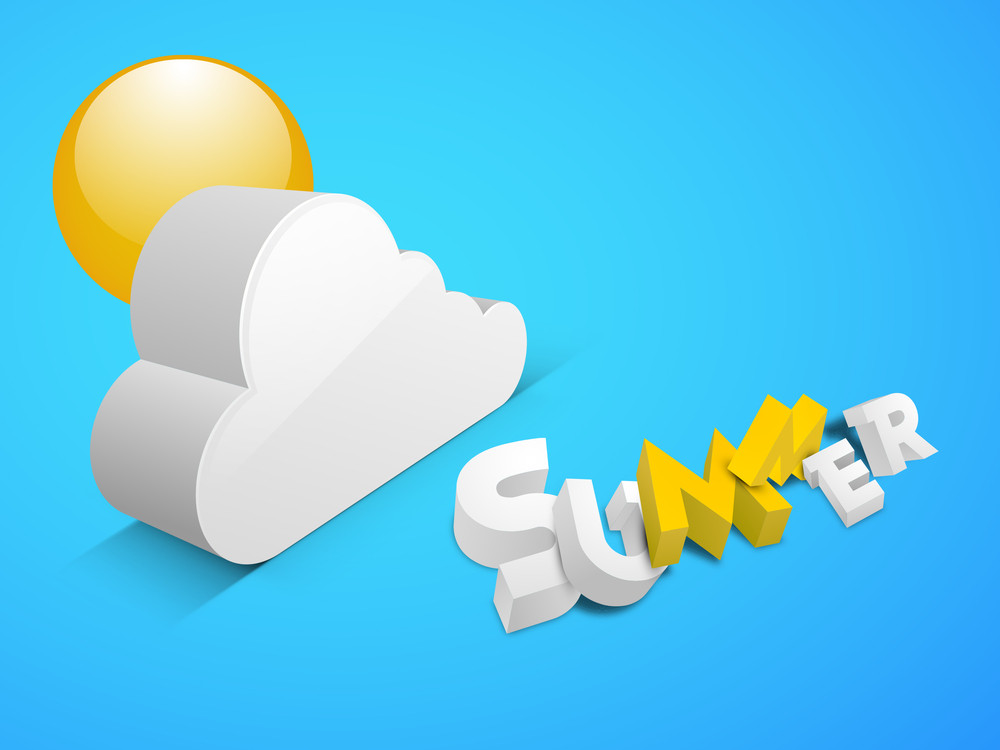 Summer Background With Cloud