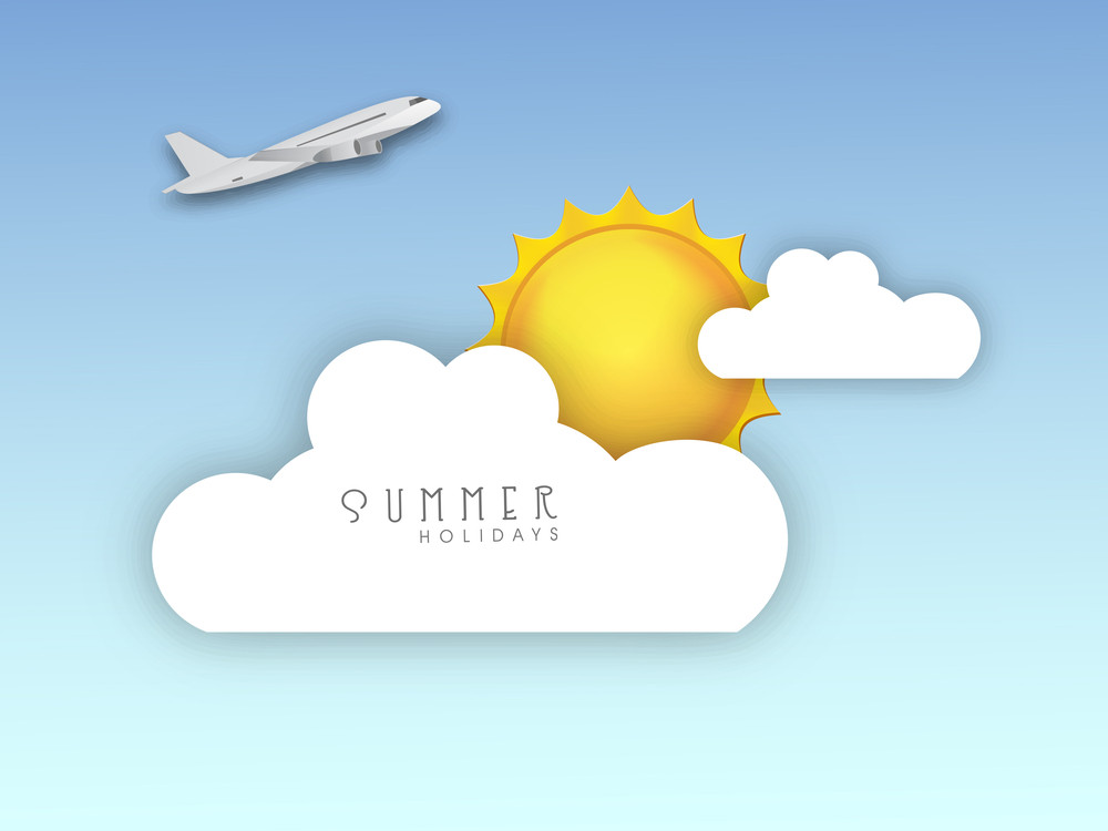 Summer Holidays Concept With Sun