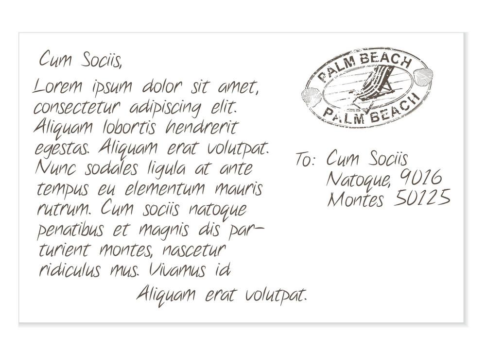 Summer Postcard Vector Illustration