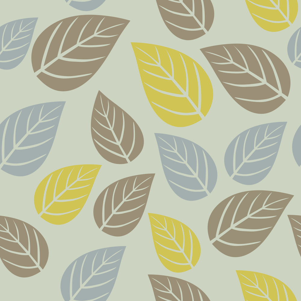 Summer Seamless Leaf Pattern.