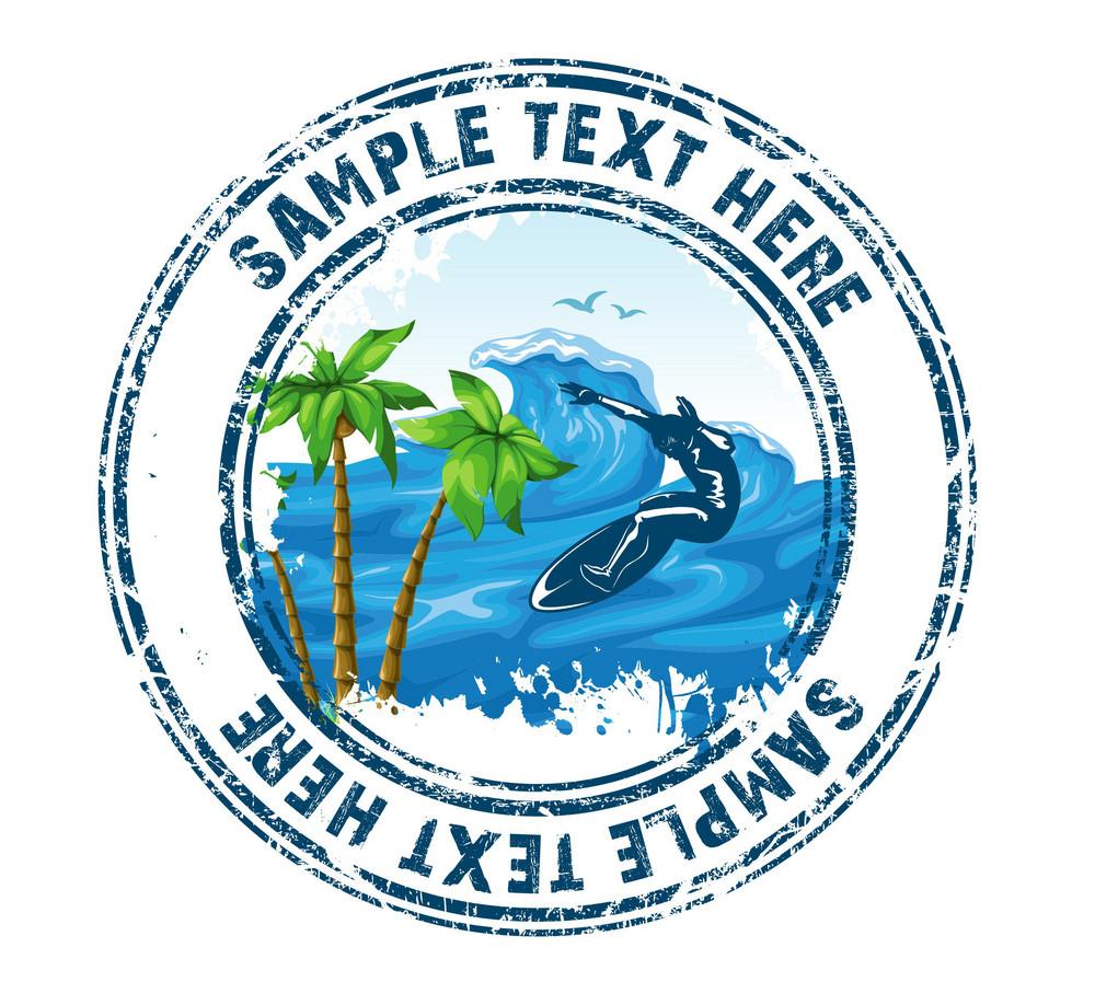 Summer Stamp Vector Illustration
