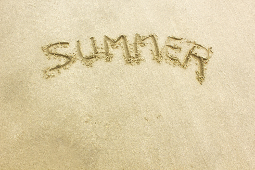 Summer Text On Sand