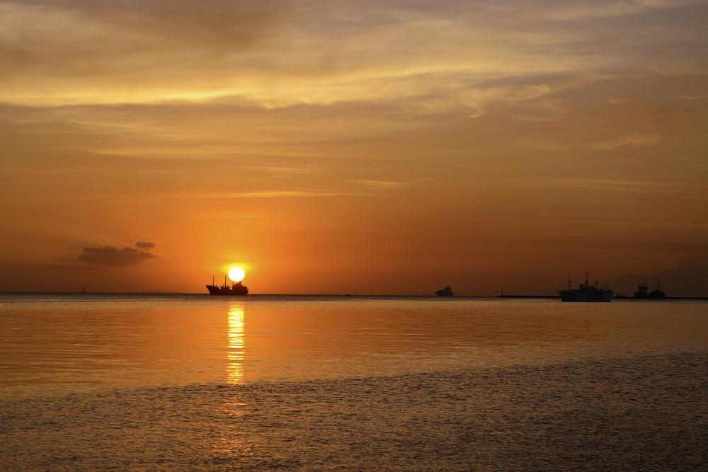 Sun Above Ship